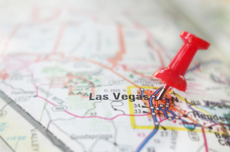 Las Vegas map pin stock images