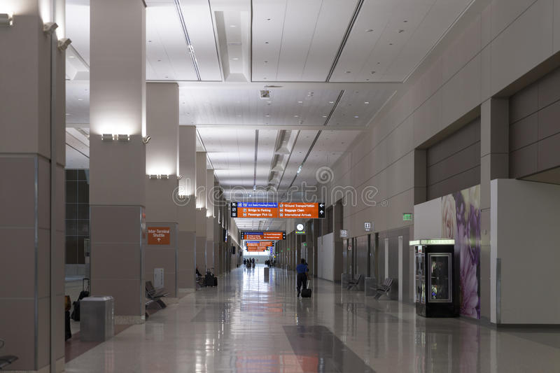 McCarren Airport, terminal 3 in Las Vegas, NV on March 30, 2013 royalty free stock images