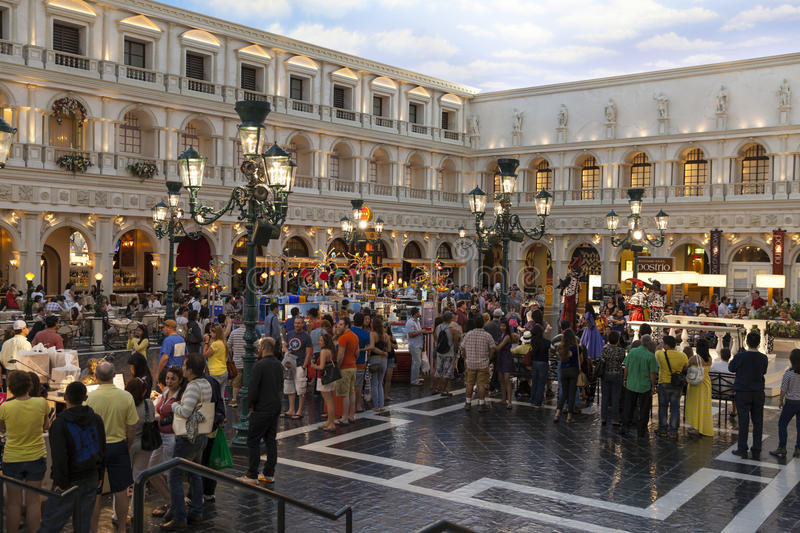 The Canal Shoppes at the Venetian in Las Vegas, NV on March 30, royalty free stock images