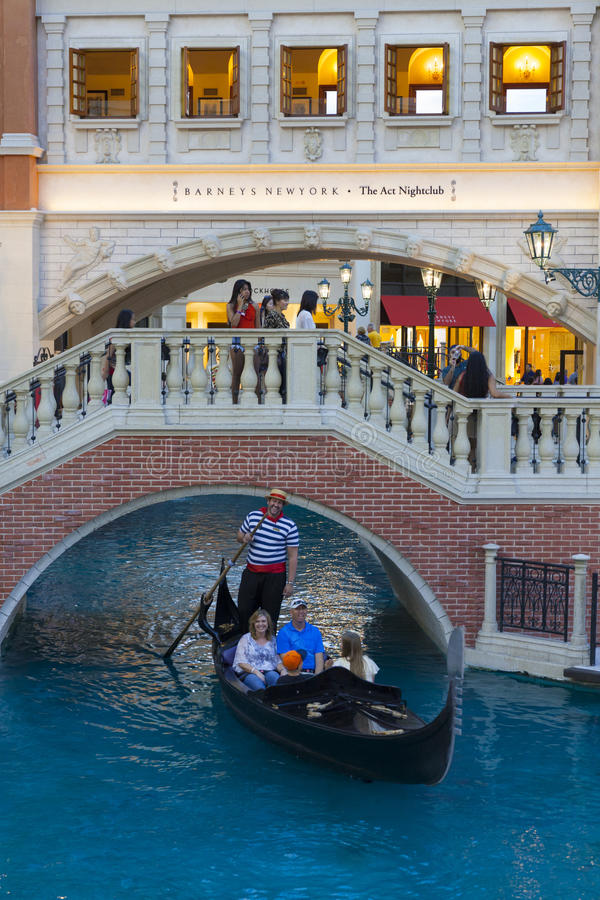 The Canal Shoppes at Venetian in Las Vegas, NV on March 30, 2013 royalty free stock photography
