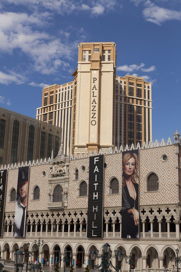 Det Palazzo hotellet i Las Vegas, NV på mars 30, 2013 royaltyfri fotografi