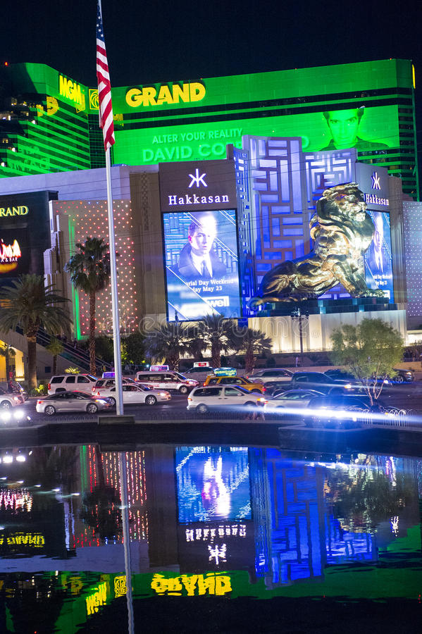 Download Las Vegas , MGM editorial photo. Image of colorful, entertainment - 41460266