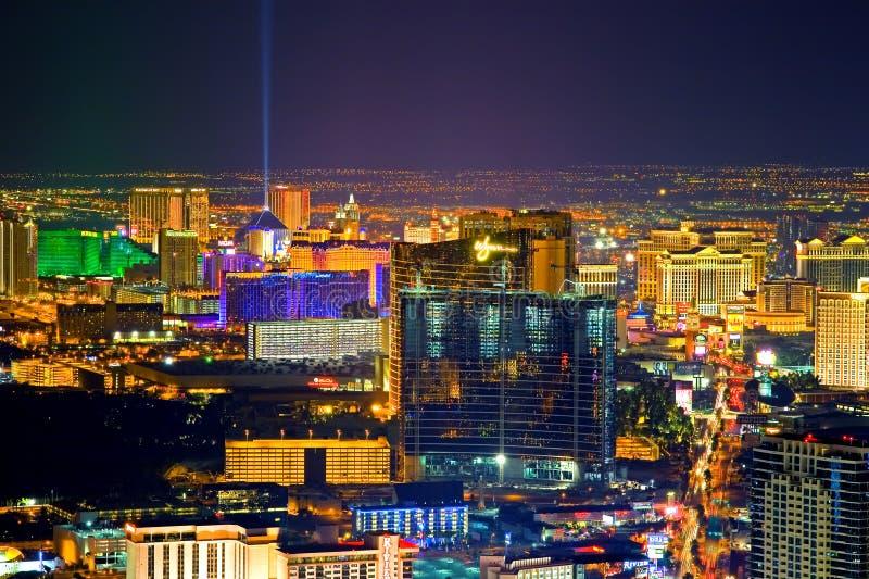 Las Vegas nachts stockfoto