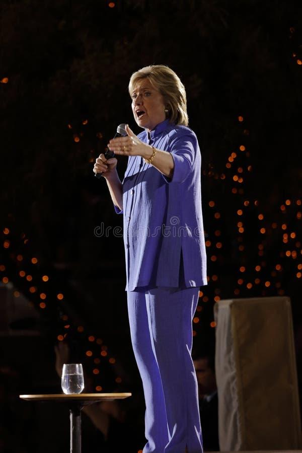 LAS VEGAS, NANOVOLTIO - 14 DE OCTUBRE DE 2015: Hillary Clinton, U anterior S Secretario de Estado y 2016 candidato demócrata a la fotografía de archivo