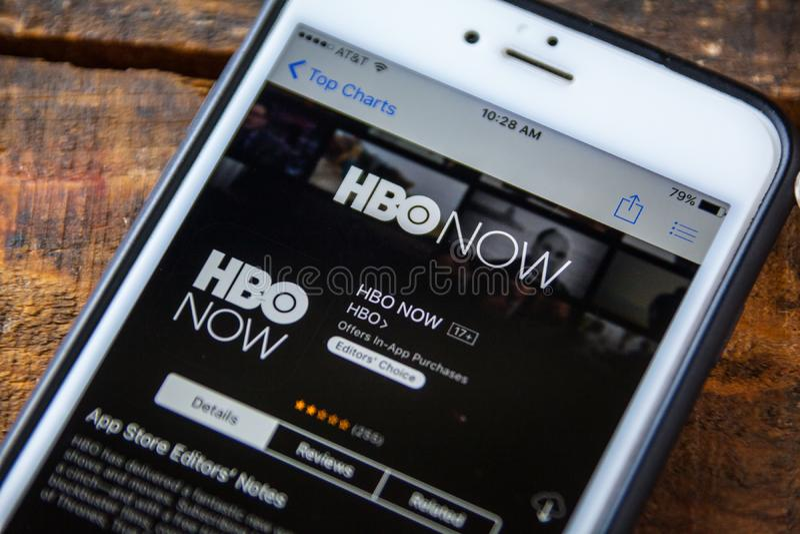LAS VEGAS, nanovoltio - 22 de septiembre 2016 - De HBO iPhone App AHORA en la A fotos de archivo libres de regalías