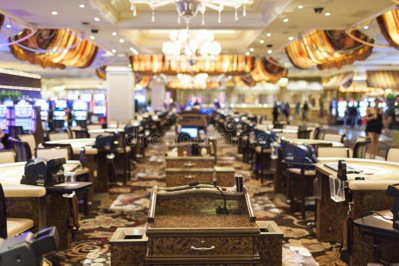 """Las Vegas, Nevada †""""1 Oktober: Het binnenland van één van de hotels & de Casinozalen in Las Vegas in 1 Oktober, 2013, de V.S. stock foto's"""