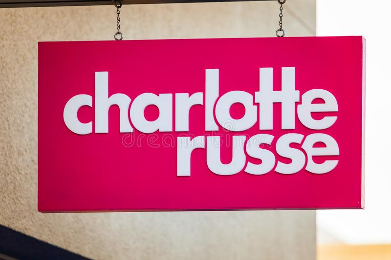 LAS VEGAS, NEVADA - 22 août 2016 : Charlotte Russe Logo On S photographie stock libre de droits