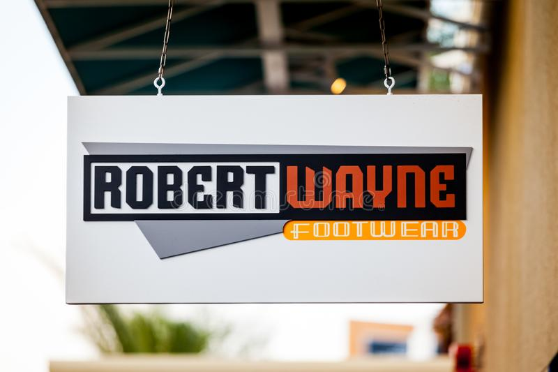 LAS VEGAS, NEVADA - 22 août 2016 : Robert Wayne Footwear Log photos stock