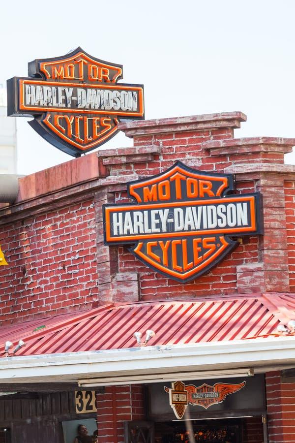 LAS VEGAS, NEVADA - Augustus tweeëntwintigste, 2016: Har; ey Davidson Motorcycl stock fotografie