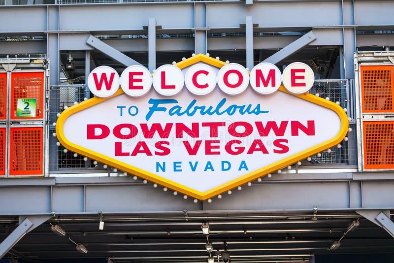 LAS VEGAS, NEVADA - Augustus tweeëntwintigste, 2016: Onthaal aan Fabelachtige Downt royalty-vrije stock foto's