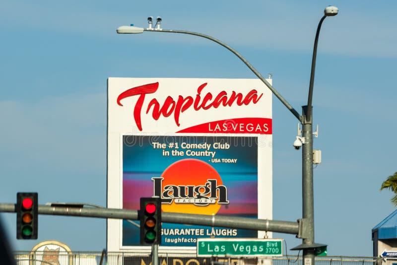 LAS VEGAS, NEVADA - Augustus tweeëntwintigste, 2016: Tropicanahotel en Casin stock afbeelding