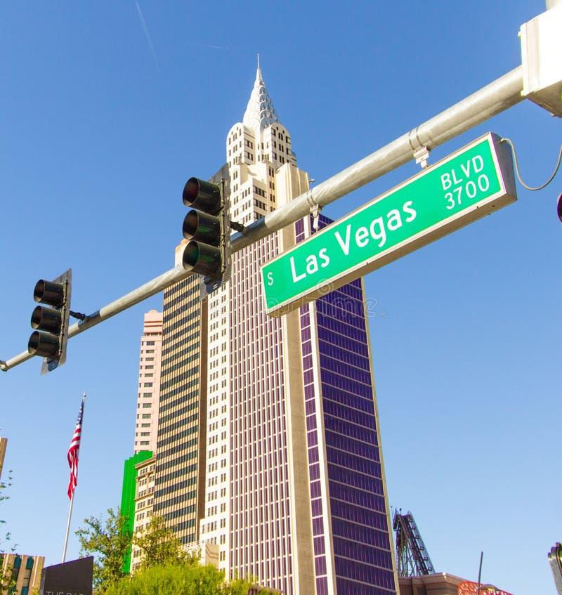 Las Vegas Nevada Boulevard Street Sign lizenzfreies stockbild