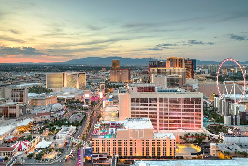 Las Vegas, Nevada, cityscape van de V.S. stock afbeeldingen
