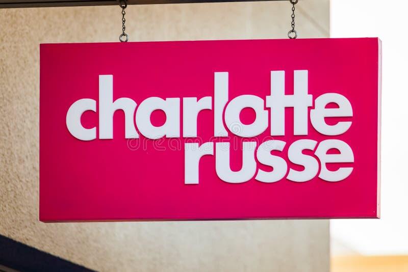 LAS VEGAS, NEVADA - 22 de agosto de 2016: Charlotte Russe Logo On S fotografía de archivo libre de regalías