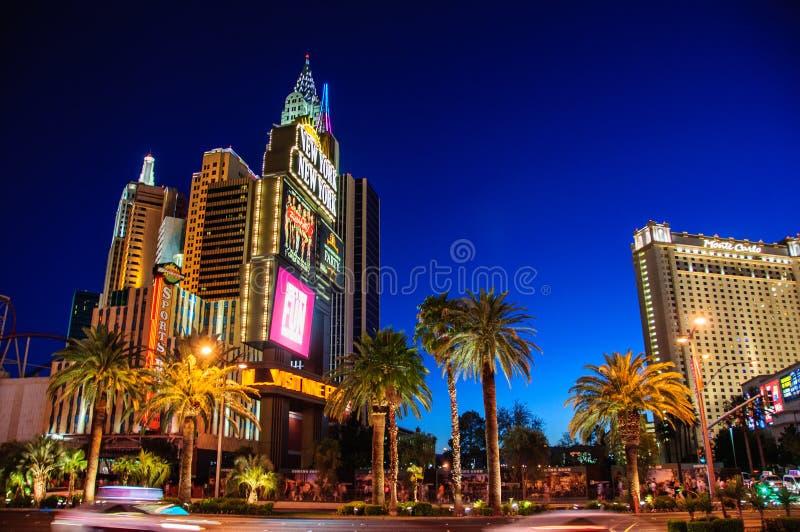 Las Vegas, Nevada, de V.S. - 27 Juni, 2014: Het beroemde Hotel New York in Las Vegas stock fotografie