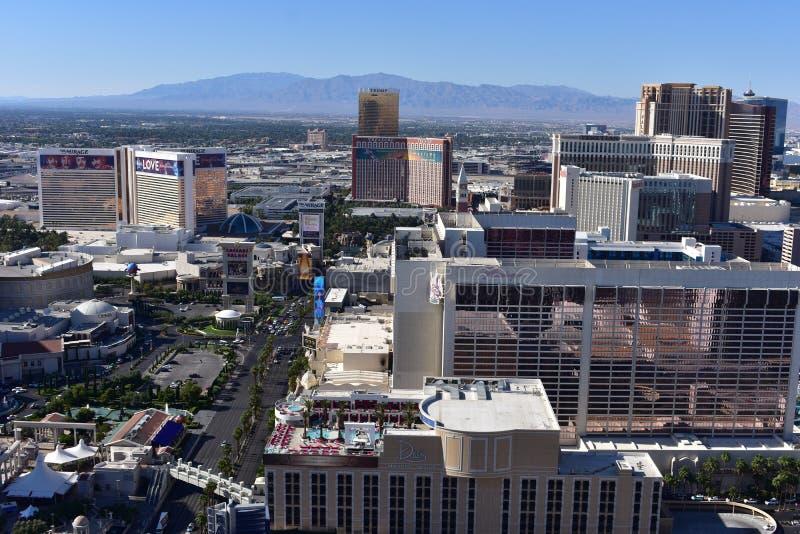 Las Vegas, Nevada - de V.S. - 05,2017 Juni - Stadshorizon Vegas stock afbeeldingen