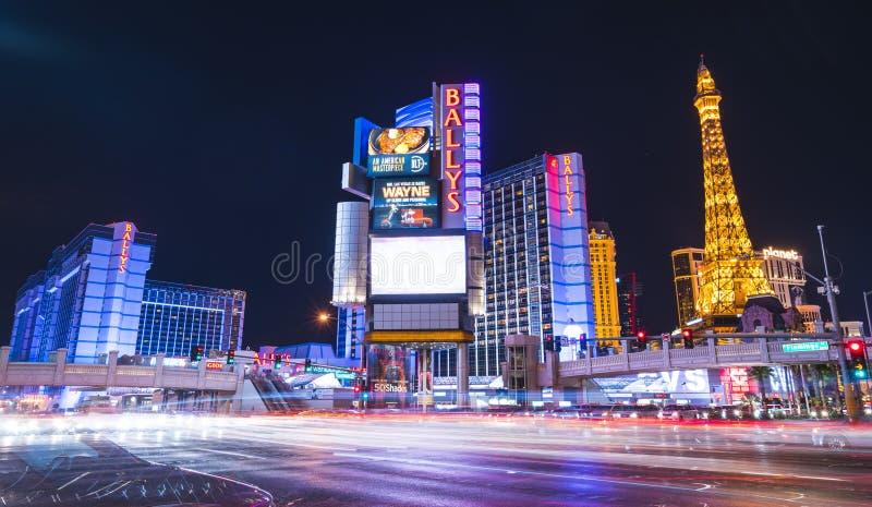 Las Vegas, Nevada, Etats-Unis 5-28-17 : horizon de Las Vegas la nuit photo stock