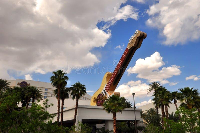 LAS VEGAS, NEVADA, EUA - 21 DE ABRIL DE 2015: Hotel e casino do centro do Hard Rock Café da cidade o 21 de abril de 2015 fotografia de stock