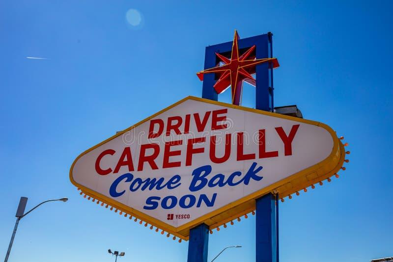 Las Vegas Nevada EUA Dia de mola ensolarado, c?u azul foto de stock royalty free