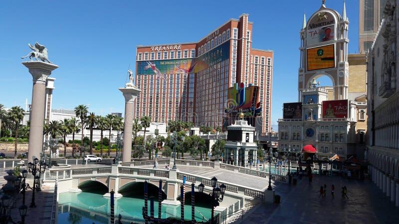 Las Vegas Nevada Grand Canal veneciano Isla del tesoro imagen de archivo libre de regalías