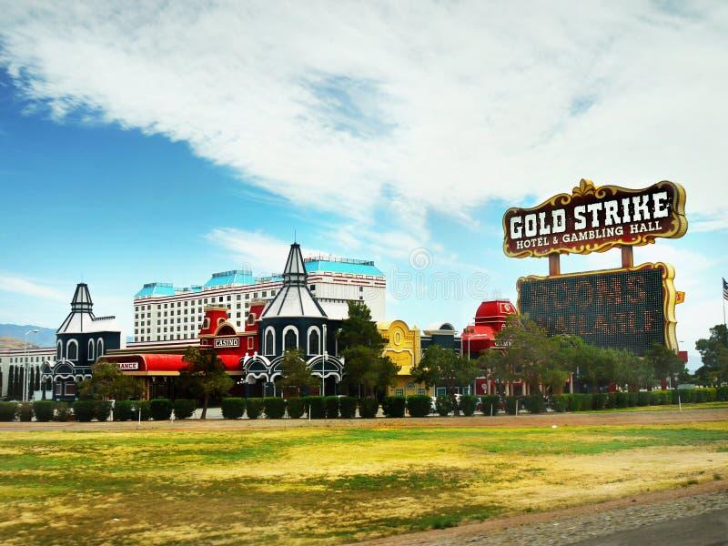 Las Vegas, Nevada - hotel e casinò di colpo dell'oro immagini stock libere da diritti
