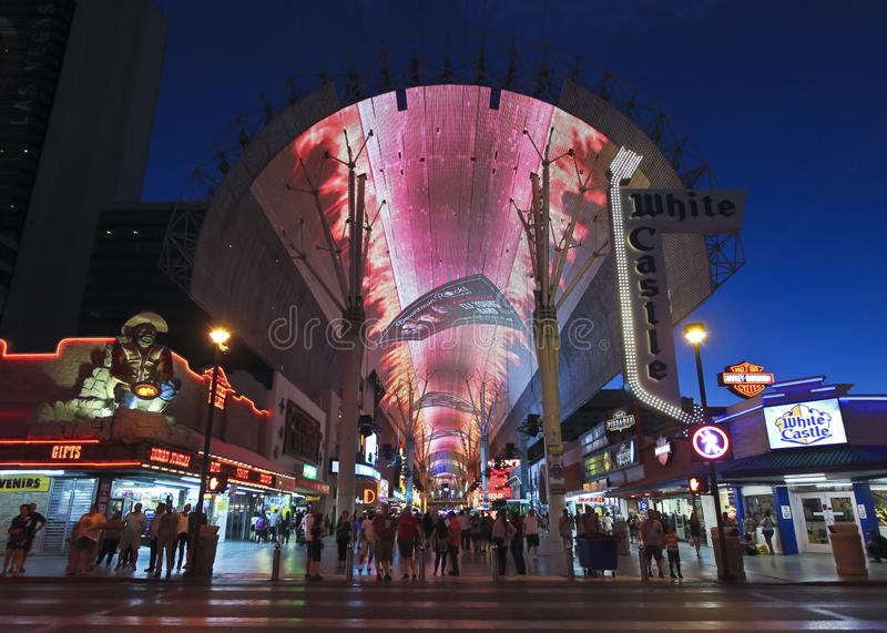 A Fremont Street Experience Night Scene, Las Vegas, NV, USA royalty free stock photo