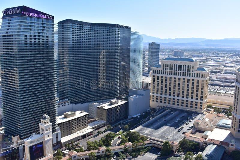 Las Vegas, Nevada - los E.E.U.U. - junio 05,2017 - opiniones de los edificios de Las Vegas fotografía de archivo