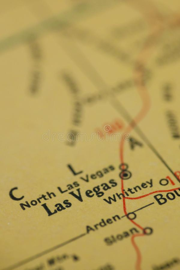 Las Vegas Nevada Map royalty free stock images