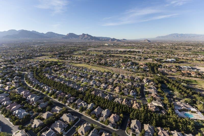 Las Vegas Nevada Neighborhood Aerial royaltyfri fotografi