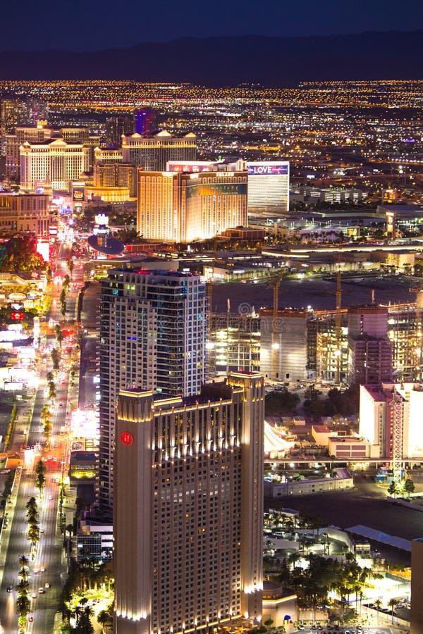 Las Vegas Nevada Night Cityscape photographie stock libre de droits