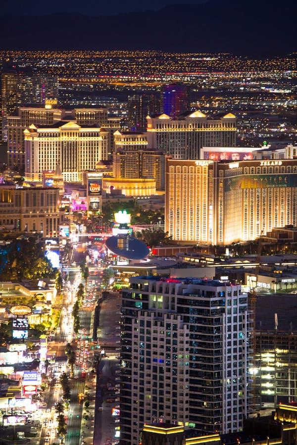 Las Vegas Nevada Night Cityscape photos libres de droits