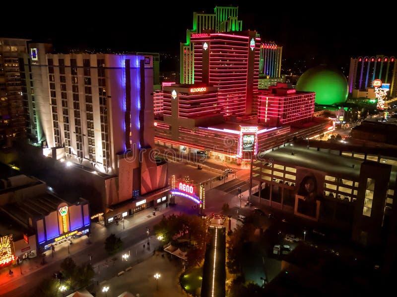 Las Vegas Nevada Night Scene stock foto