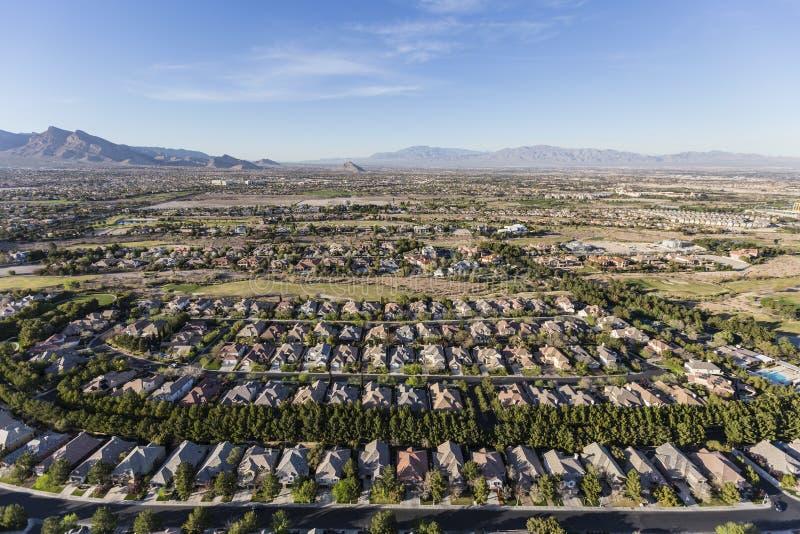 Las Vegas Nevada Suburban Neighborhood Aerial arkivbild