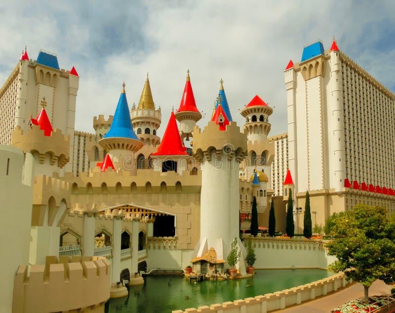Las Vegas, Nevada, U.S.A. - 5 maggio 2016: Hotel e casinò di Excalibur immagini stock