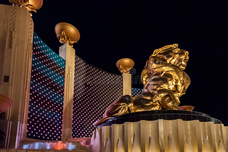 Las Vegas, NEVADA/USA - 2 août : Vue du lion de MGM dans Las V images libres de droits