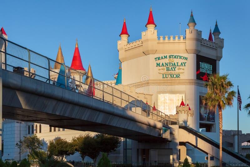 Las Vegas, NEVADA/USA - 1. August; Ansicht der Tram-Station zu M lizenzfreie stockfotos
