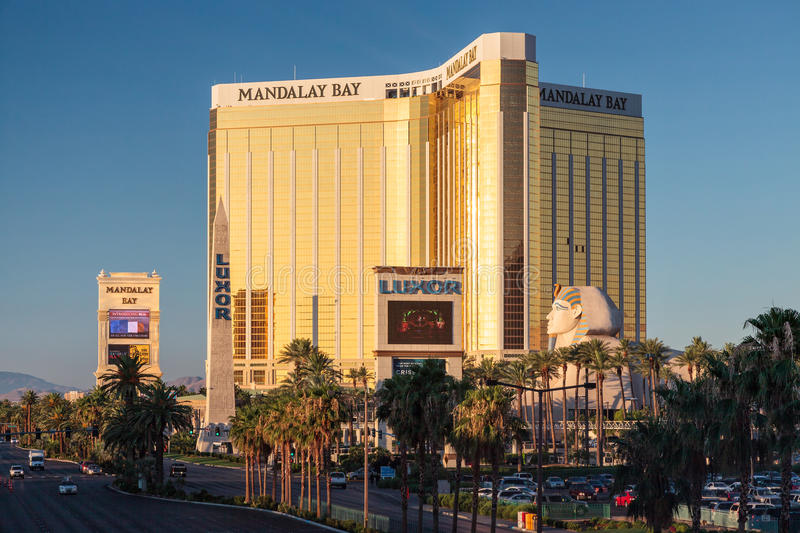 LAs VEGAS, NEVADA/USA - AUGUST 1 ; View of Mandalay Bay Hotel in stock photography