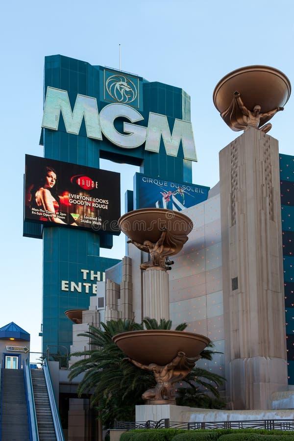 LAS VEGAS, NEVADA/USA - 1 AUGUSTUS: Mening van het MGM-Hotel in Las stock afbeeldingen