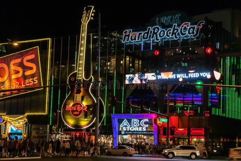 Las Vegas, NEVADA/USA - 2 de agosto; Escena de la noche a lo largo de la tira i imagen de archivo