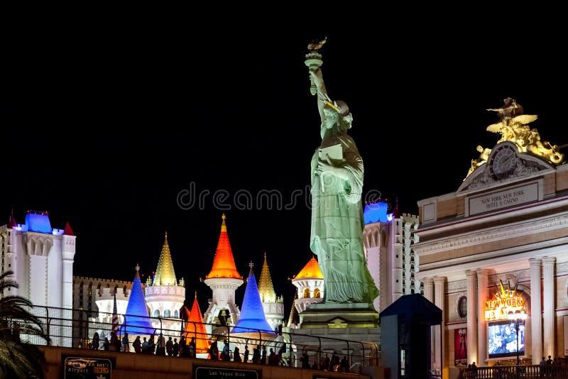Las Vegas, NEVADA/USA - 2 de agosto; Estátua da réplica de Libert foto de stock