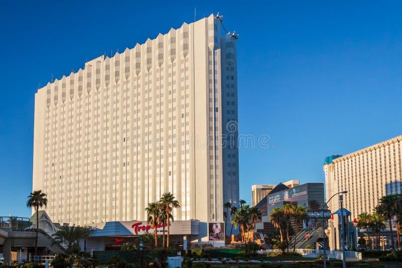 Las Vegas, NEVADA/USA - 1 de agosto; Vista del hotel de Tropicana en La fotografía de archivo
