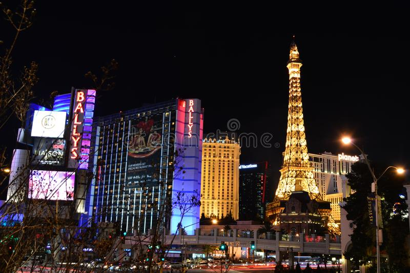 Las Vegas Nevada, USA - Januari 24, 2015: Las Vegas horisont royaltyfri bild