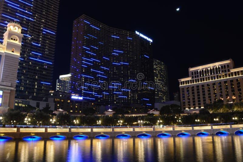 Las Vegas Nevada, USA - Januari 24, 2015: Kosmopoliten av Las Vegas arkivfoton