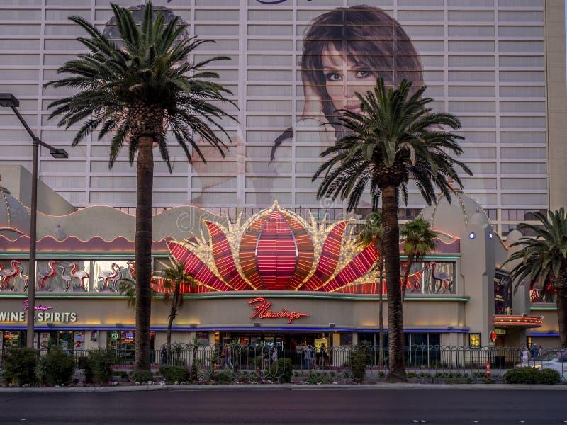 Flamingo hotel and casino. Las Vegas, Nevada / USA - June 9, 2018: The Flamingo hotel and casino on November 24 2016 in Las Vegas. The hotel opened by Bugsy stock photo