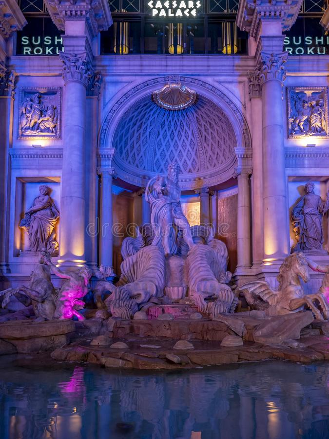 Trevi Fountain replica, Caesars Palace stock image