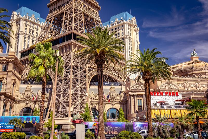 Las Vegas, Nevada, USA - L'hôtel et le casino de Paris photo stock