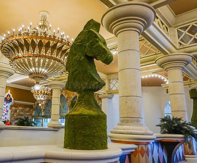 Las Vegas, Nevada/USA ; Le 11 mai 2018 : L'intérieur de l'Excalibur photo stock