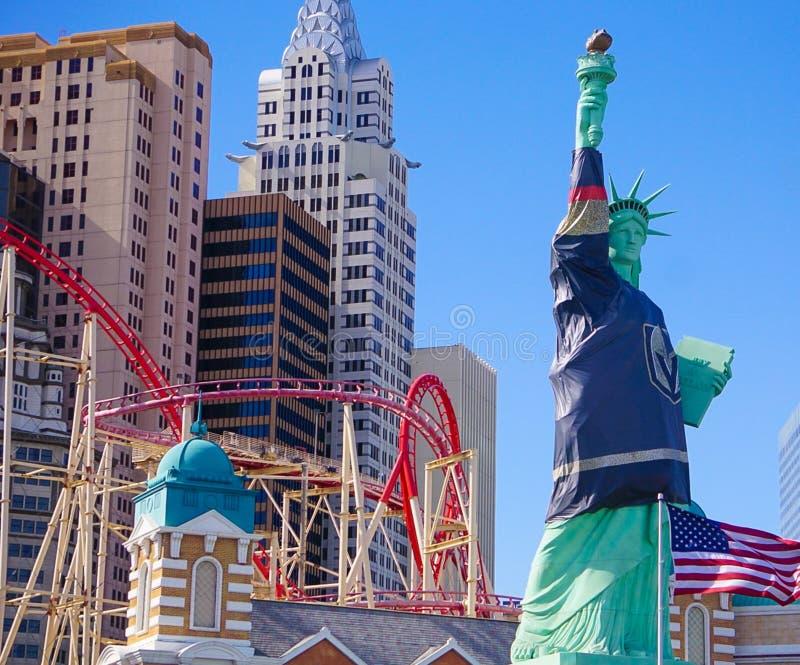Las Vegas, Nevada/USA: 11 maggio 2018: Hotel di New York New York e Ca immagine stock libera da diritti