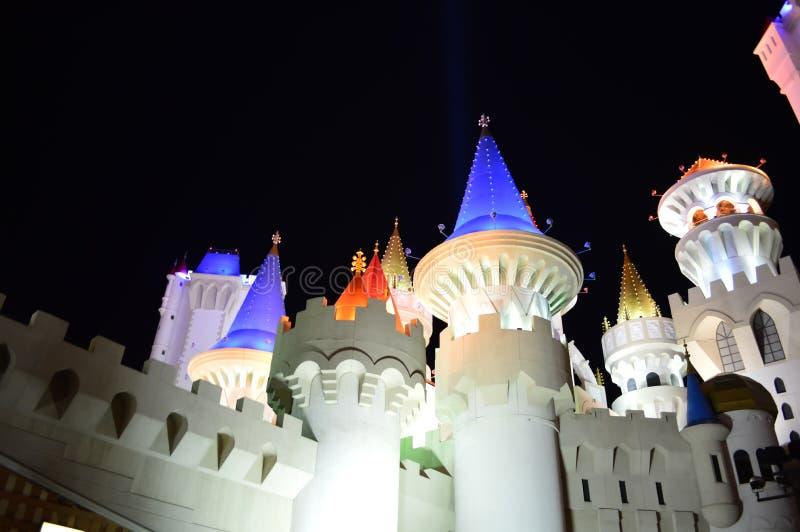 Las Vegas Nevada, USA - Maj 26, 2014: Las Vegas sikt från den Ghostbar balkongen arkivbilder