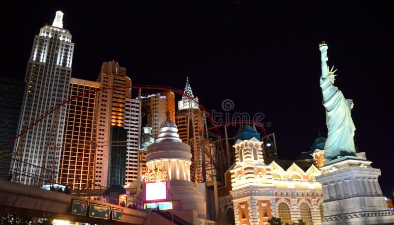 Las Vegas Nevada, USA - Maj 26, 2014: Las Vegas sikt från den Ghostbar balkongen royaltyfri foto
